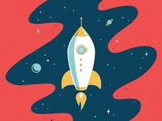 Rocket #illustration #spaceship #rocket