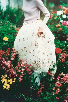 fashion, dress, flowers