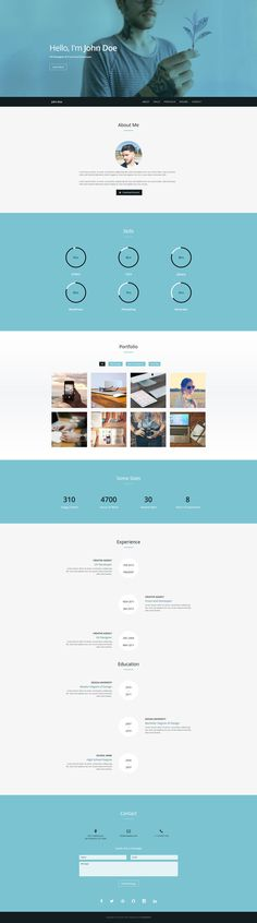 Verum - Free Resume / CV Template #template #responsive #resume #cv #html #bootstrap