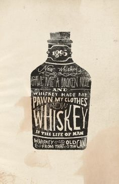 Whiskey Art Print by Jon Contino | Society6 #type #illustration #contino #jon