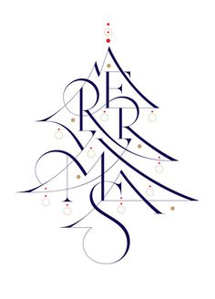 Typeverything.com Wish you a merry Christmas! by @aronjancso. #christmas letters