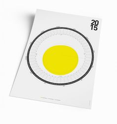 The Circular Calendar #egg #calendar #design #graphic #art #circular