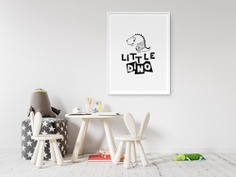 Little Dino Kids Nursery Scandinavian Wall Art 2