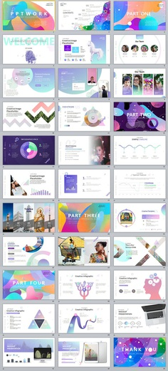 Best Charts multicolor PowerPoint templates download on Behance