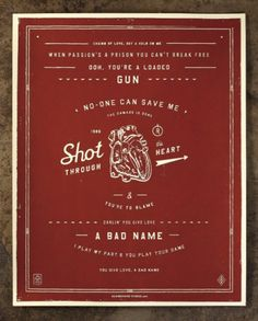 NeighborhoodStudio — Shot Through the Heart #heart #red #jinkins #print #through #the #curtis #shot