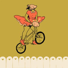 "norhuu: ""BMX lady animation I had fun with today"" #illustration"