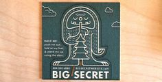 BIG SECRET / Laser Engraving + Cutting + Marking #card #identity #business