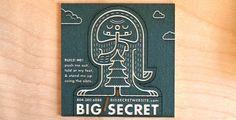 BIG SECRET / Laser Engraving + Cutting + Marking #card #identity #business