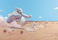 moebius: transe-forme at the fondation cartier, paris #moebius #rabbit #art