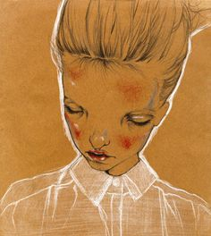 illustrations on Behance #paper #brown #red #woman