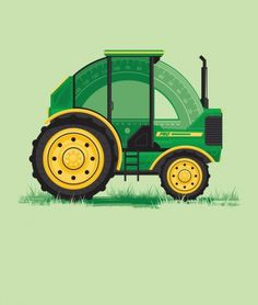 171301_13373730_l.jpg 500×589 pixels #illustration #tractor #protractor #green