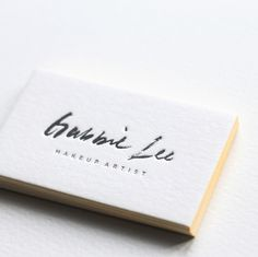 Business Card, stationary, letterpress, minimal, clean