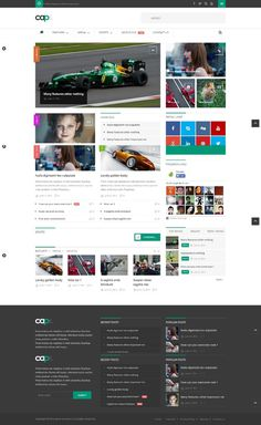 footer, web design, concept, layout, grid
