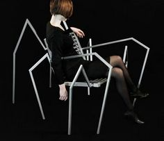 spider shape chair design idea #chair #spider