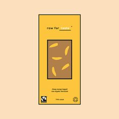 raw for taste #branding #color #chocolate #minimal #colour