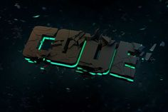 SOLVSTROM #neon #black #typography
