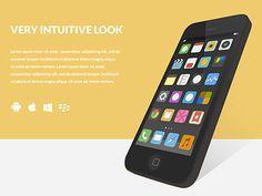 Flat Angled iPhone #flat #design #website #iphone #screenshot