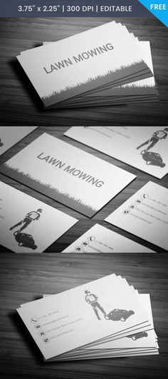 Free Lawn Mower Business Card Template