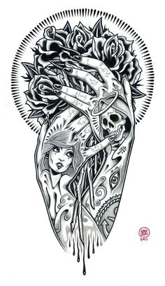 tumblr_m72dsdx9Iw1qz9v0to2_1280.jpg 470×818 pixels #illustration #tattoo