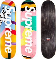 Supreme Mendini Skateboards Original artwork by Alessandro Mendini for Supreme.