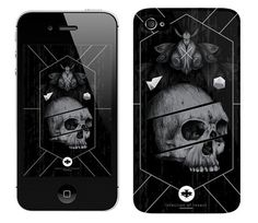 Case for iPhone + Wallpaper / be.net/alexandreruda #alexandre #black #iphone #insect #case #skull