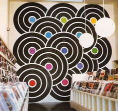 Jive Time Turntable #mural #super #design #graphic #record #vinyl #wall #graphics