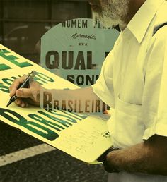 Homem Placa - flpr #classic #letterpress