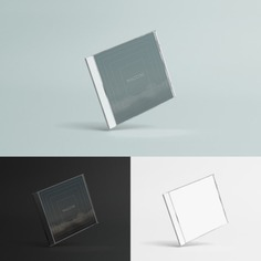 Compact disc case mock up Free Psd. See more inspiration related to Cover, Packaging, Digital, Package, Cd, Cd cover, Up, Case, Disc, Mock and Compact on Freepik.