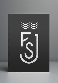 S&J Monogram - DCL #monogram #blackwhite #com #derrickclee