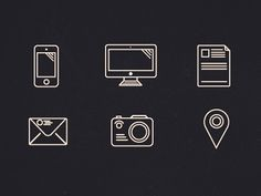 1png #computer #communications #line #camera #icons #illustrations #art