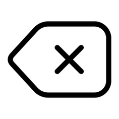 See more icon inspiration related to cancel, tag, delete, label, remove, erase and interface on Flaticon.