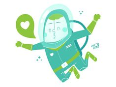 Astronaut #illustration #space #character design #astronaut