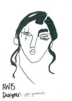 Yohji Yamamoto A/W15 #fashion #illustration #yohji