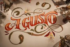 Food Styling Lettering by Panco Sassano