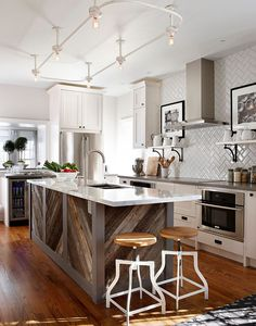 #herringbone #tile #kitchen