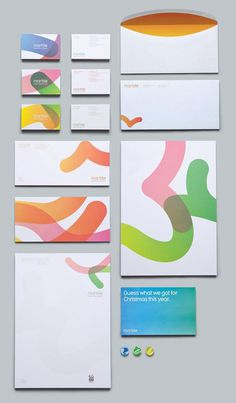 Stationary #stationary #colour #branding #set