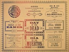 Art of the Title #1957 #title #panel #sussman #mexico #of #the #ray #day #film #dead #deborah #charles #eames
