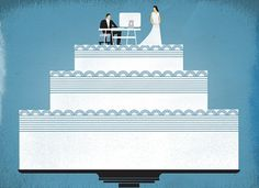 matthewhollister.com #cake #illustration #wedding #texture