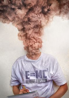 E=MC^2 by YongL #smoke #photo #brain #einstein #knowledge #manipulation #overload #genius #science #intelligence