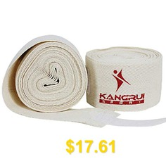2PCS #Comfortable #Pure #Cotton #Boxing #Bandage #for #Physical #Exercise #and #5 #Meters #Length #(White) #- #WHITE
