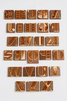 grain edit · Jonny Holmes / Bodoni #bodoni #letterpress #block #wood #typography