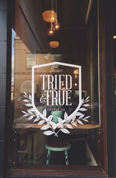 Cutest cafe opened up downtown and I think I'll be frequenting it quite often. #logo design #cafe #coffee