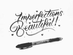 🙃 Imperfections are Beautiful 😋 - #handmadefont #type #brushlettering #lettering #typegang #typography #calligraphy #design #50words #