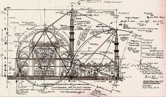 Inspiration / Technical drawing of a mosque #a #of #mosque #technical #drawing