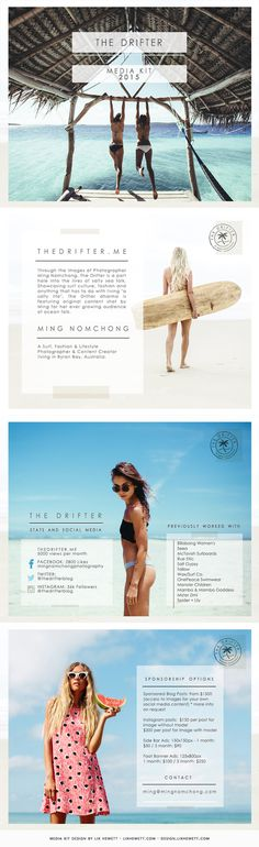 Travel Blogger PDF Media Kit Design