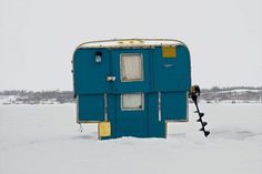 Richard Johnson Captures the Beauty of Canada's Colorful Ice Fishing Huts