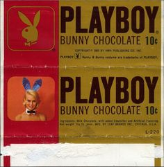 All sizes | Leaf Brands - Playboy Bunny Chocolate 10-cent candy bar wrapper - 1965 | Flickr - Photo Sharing! #playboy #60s #packaging #candy #chocolate #wrapper #bar #sweets #1960
