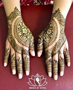 Creative Rajasthani Gangaur Mehndi Design images on Designspiration