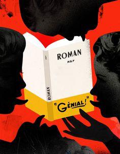 Emmanuel Polanco / Les InRockuptibles magazine / colagene.com #book #illustration #vintage #tongue #face #collage #hand