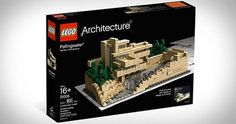 LEGO-Architecture-Fallingwater.jpg 600×317 pixels #packaging #architecture #lego